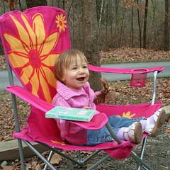 The Big Girl in Her Big Pink Chair