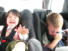 crying kids in the car by petalplum