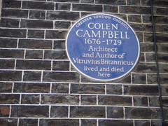 Photo of Colen Campbell blue plaque