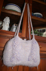Handles and bag, felted