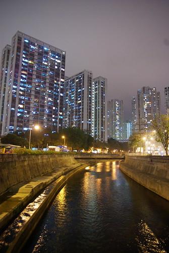 Canal in Wong Tai Sin, Hong Kong
