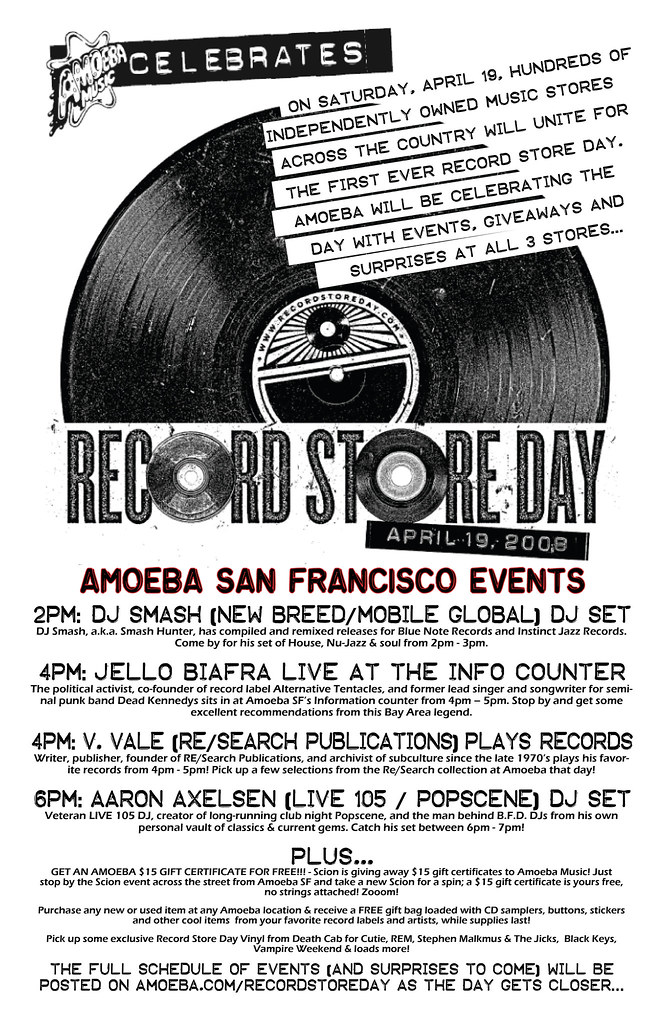 Record Store Day @ Amoeba SF 4/19!