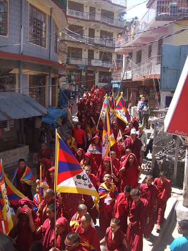 Torch Protest in Dharamsala