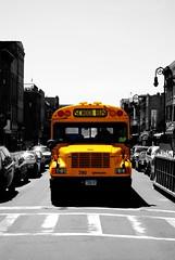 school bus (alternativefocus) Tags: nyc newyork yellow brooklyn pentax smithst schoolbus aficionados pentaxk10d trashbit alternativefocus