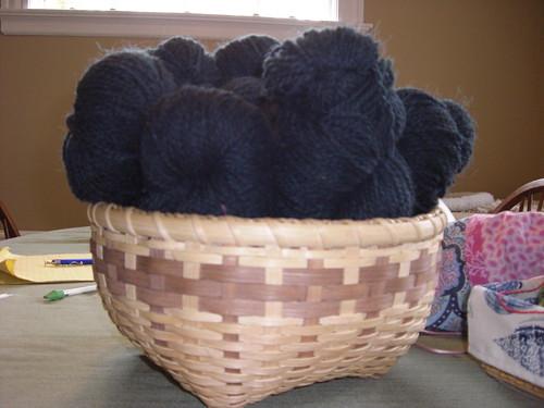 Peace Fleece in Basket