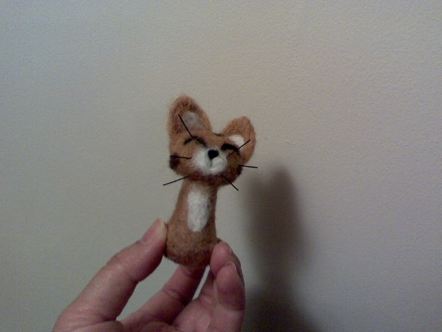 My first attempt @ needle felting