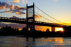 (Lazyousuf) Tags: nyc bridge sunset eastriver astoria explored explore21 thetriboroughbridge
