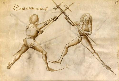 04-Lucha de esgrima sin armadura con Alabarda 41r