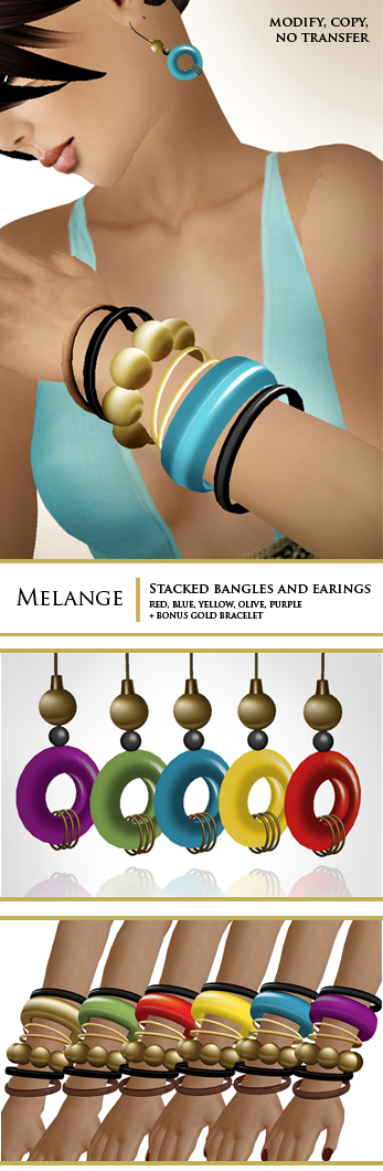 Melange : casual bracelets/earrings