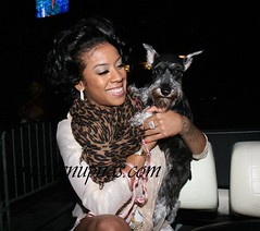 keyshia cole and a dog