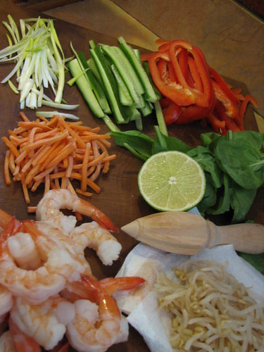 Ingredients for Fresh Springrolls