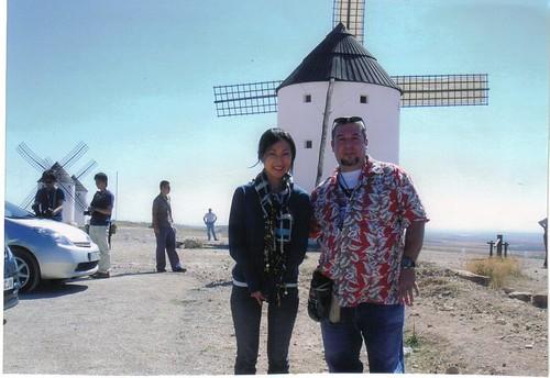 tsuruta mayu san,freddy in mota del cuervo, la mancha,spain to Toyota prius sponsor