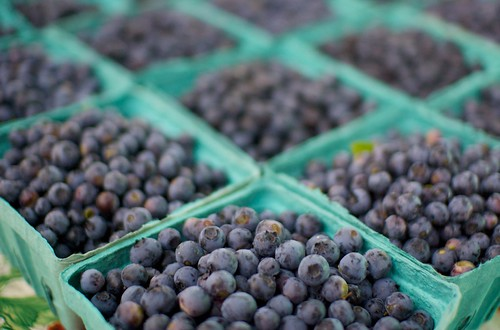Blueberries at the Farmers Market