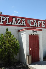Exterior of Plaza Cafe, in Gallup, New Mexico