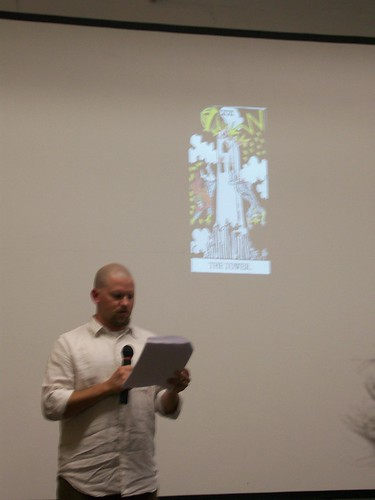Lyle Rosdahl reading at Artpace