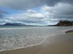 The foam of the waves ... (Stellina.m  (...illness)) Tags: sky beach clouds ripple horizon foam onde blueribbonwinner naturethroughthelens