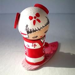 Shika kokeshi (Bobbin4apples) Tags: wood people japanese doll kokeshi
