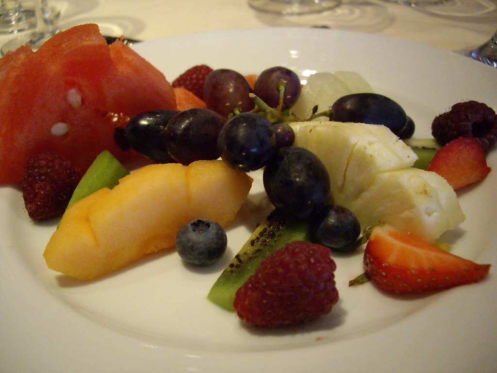 """Tropical"" fruit plate"