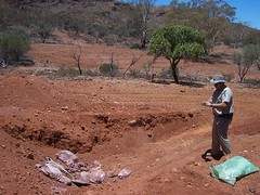 leigh creek police make a preliminary excavation into the mount gee east waste pit - photo: ABC online - link to my Arkaroola Sanctuary - would U mine it? set on flickr