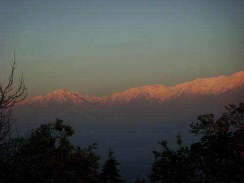 Los Andes from Cerro San Cristóbal, Santiago - Chile.
