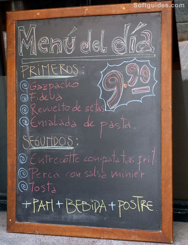 madrid menu dia