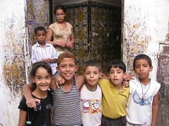 Kids in the Jewish Quarter of Fes