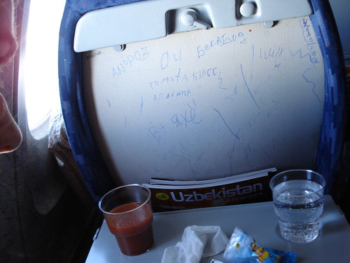 Tray table - Uzbek airlines