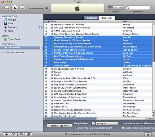 Ronan's iPod shuffle 1GB Summer 08 Hits III