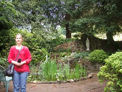 Me beside Grotto - Kinnoull (Queenbie) Tags: self catholic perth ourlady redemptorist kinoull