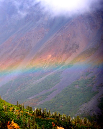 alaska: rainbow at rainbow mts