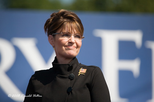 Alaska Governor Sarah Palin attends a campaign rally in Fairfax, Virginia
