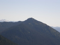 Shriner mountain (and Mt Adams on left) from road to Chinook Pass.