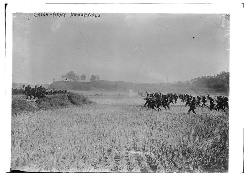 Chinese Army manoeuvres. De Library of Congress.