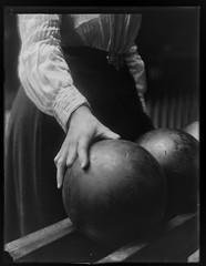 Women Bowling (George Eastman House) Tags: woman ball hand skirt bowling buckle bowlingball georgeeastmanhouse vintagebelt color:rgb_avg=353535 williammvanderweyde williammanley geh:accession=197400560698