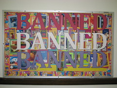 Banned Books Week 2008 (nataliesap) Tags: highschool bulletinboard banned bannedbooksweek bannedbooks liblibs unihigh