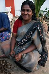 shy beauty (alwaysforward) Tags: woman india beautiful lady temple women indian shy kerala kollam southindia indianwoman godsowncountry 50millionmissing alwaysforward wonderfulpeopleofkerala