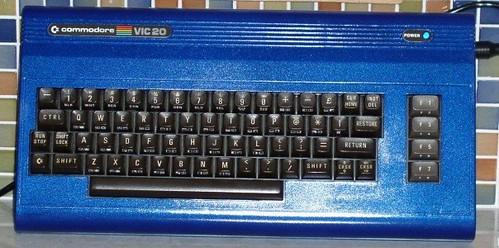 Commodore VIC-20 in metallic blue!