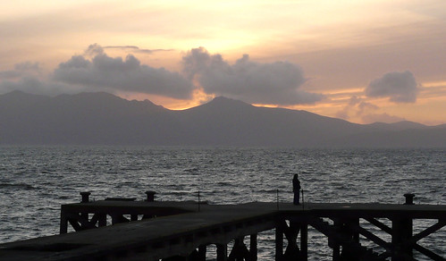Arran and Portencross sunset