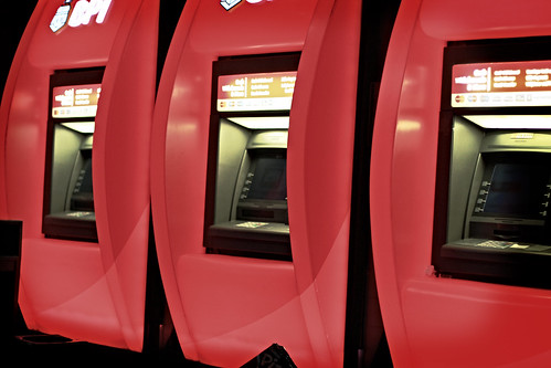 Red ATM machines