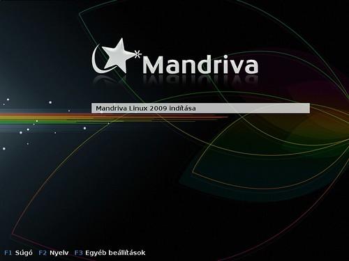 Mandriva boot menü