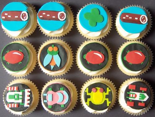 Retro Frogger Cupcakes