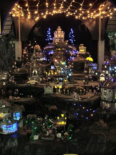 Department 56 Christmas Village Display.Department 56 Halloween Village Display A Photo On