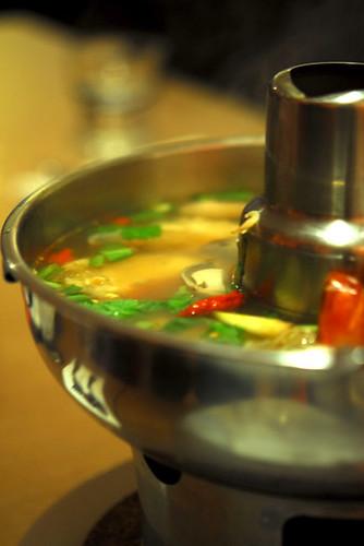 Clear tom yam prawn soup - DSC_2734