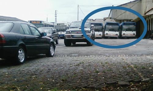 Autocarros STCP na Garagem dos TUB