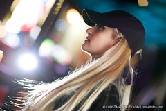 Alena in NYC (Konstantin Sutyagin) Tags: portrait woman beautiful face night hair long bokeh profile blond russian strobist