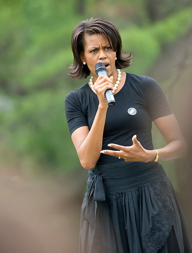 Michelle Obama speaks