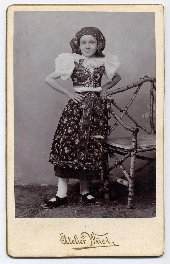 Girl In The  Moravian Folk Costume