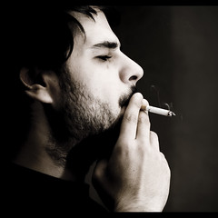 Smoking (davic) Tags: friends portrait bw david amigos night amigo noche friend retrato cigarette smoke flash tony bn smoking getty tamron 90mm vendo humo gettyimages cigarro tamron90mm cornejo davic fumando usada ganadora publicada kiriki tamronspaf90mmf28dimacro hvlf56am ltytrx5 davidcornejo smokingflash albumextrafilm