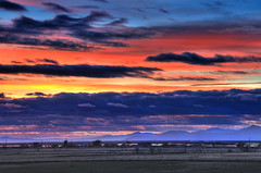 Fire in the sky... (jssutt) Tags: sunset rain clouds bluehour dri hdr bountifulutah digitalblending legacyparkway jssutt jeffsuttlemyre