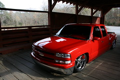 1999 Chevy Silverado on Air Suspension (slow95) Tags: ride suspension air low chevy frame silverado lowered slammed laying bagged